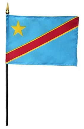 Mini Democratic Republic of Congo Flag for sale