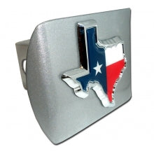 Texas Shape Black Hitch Cover