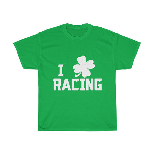 St Paddys Day Racing Unisex Cotton T-Shirt