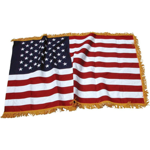 Art-Glo American Flag with Gold Fringe