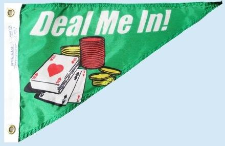 Deal Me In Pennant flag for sale