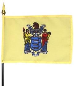 Miniature New Jersey Flag