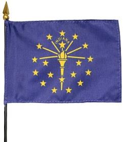 Miniature Indiana Flag