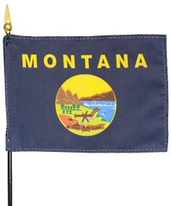 Miniature Montana Flag