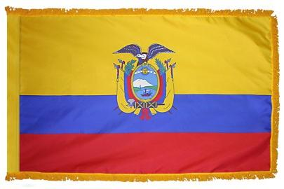 Ecuador With Seal Indoor Flag for sale