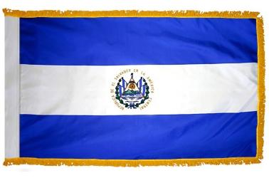 El Salvador indoor flag for sale