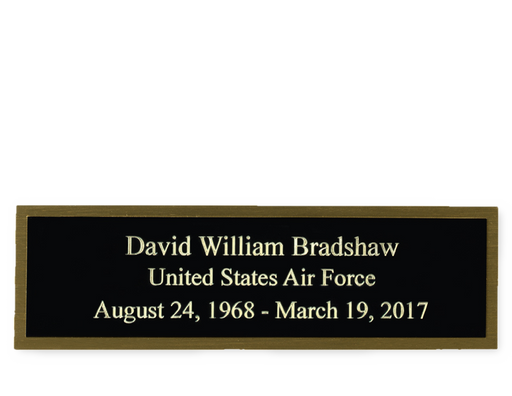 Personalized Engraved Plate