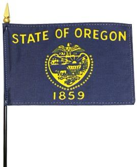 Miniature Oregon Flag