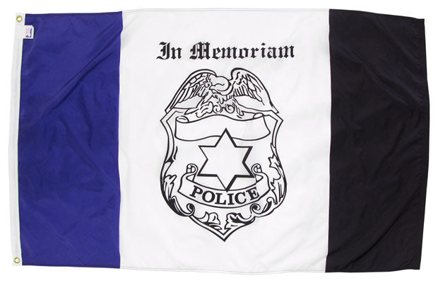 Police Memorial Flag for Sale - Made in USA - Flagman of America
