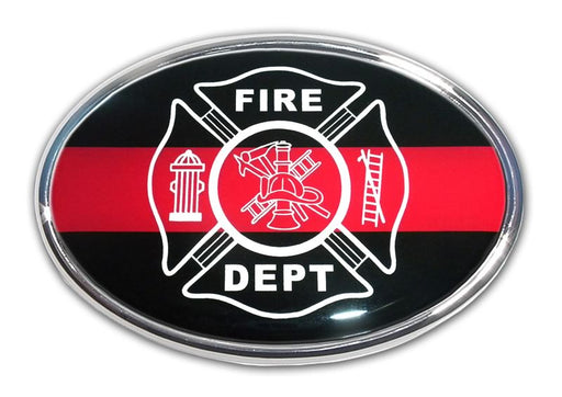 Firefighter Oval Auto Emblem