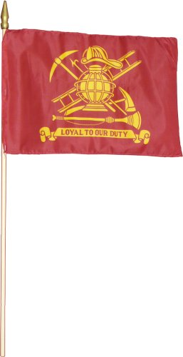 "Mounted Firefighter Loyal To Our Duty Flag 12""x18"""
