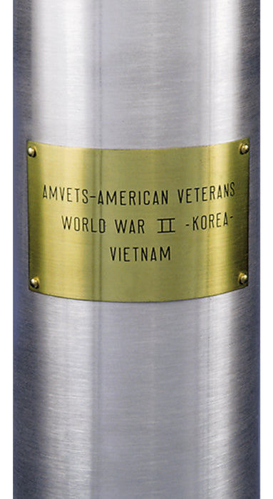 Custom Brass Flagpole Plaque