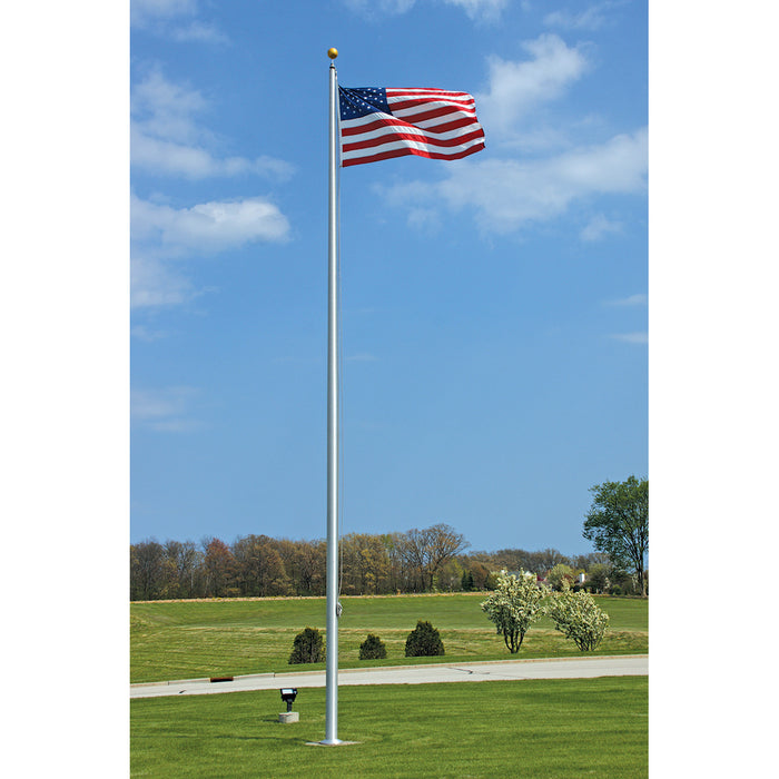 1 Piece External Aluminum Flagpole - Lifetime Warranty