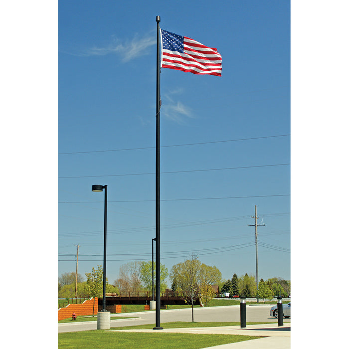 1 Piece Internal Cam Cleat Aluminum Flagpole - Lifetime Warranty