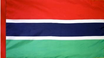 Gambia Indoor Flag for sale