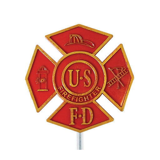Fire Fighter Plastic Grave Marker