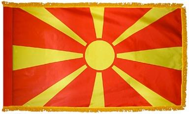 Macedonia Indoor Flag for sale