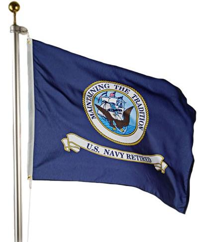 Navy Retired Outdoor Flag