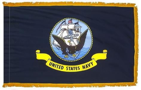 Navy Indoor/Parade Flag