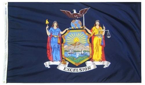 New York Outdoor Polyester Flag (Higher Wind Areas)