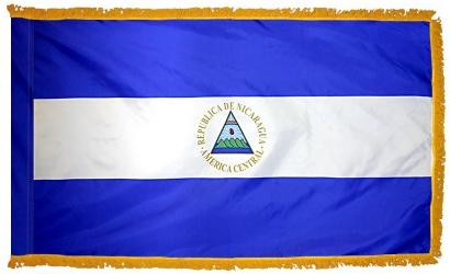 Nicaragua Government Indoor flag for sale