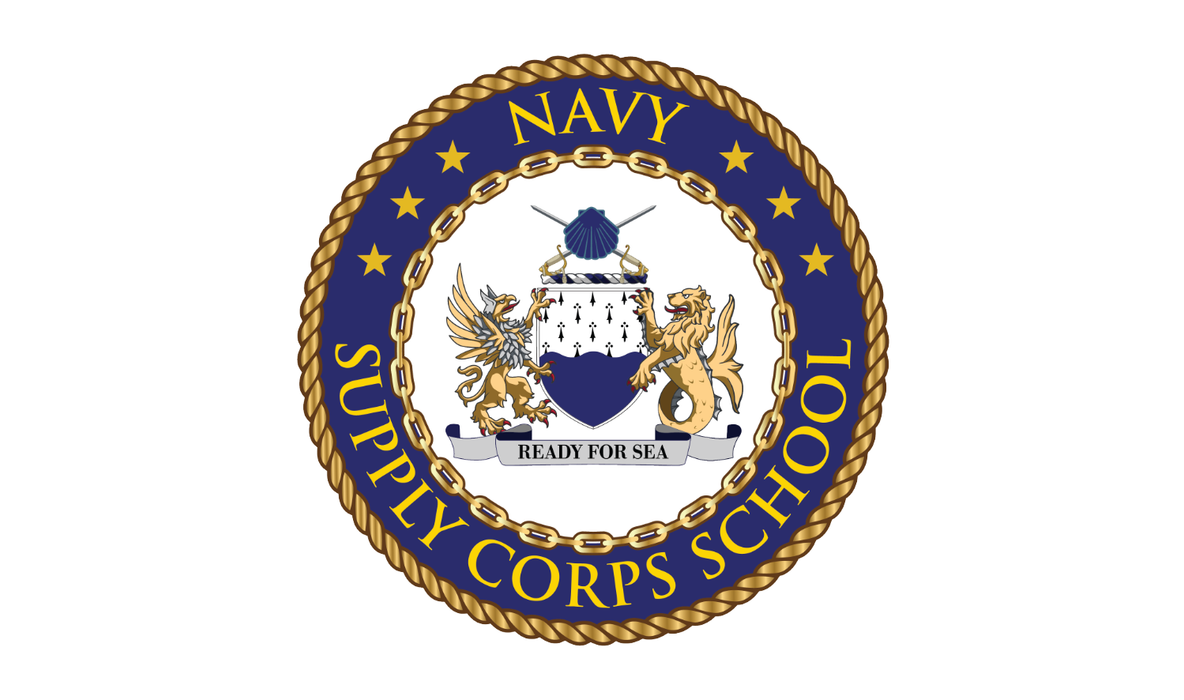 Navy Supply Corps School Printed Flag - 3'x5' - Nylon - Single Reverse - Heading & Grommets