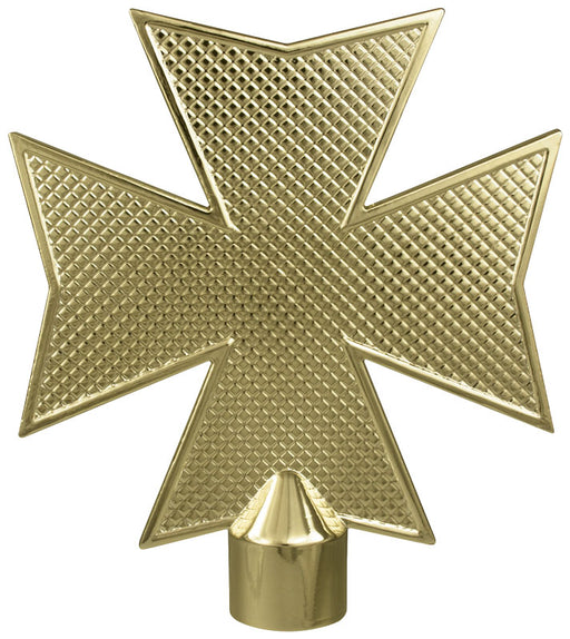 Maltese Cross | Brass Plated