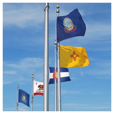 Outdoor 50 State Flag Set