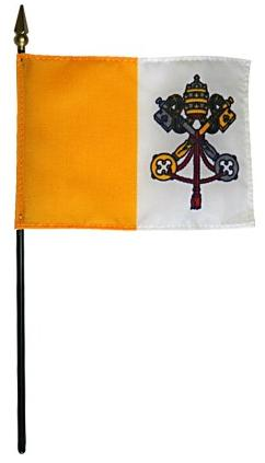 Miniature Papal Flag for sale