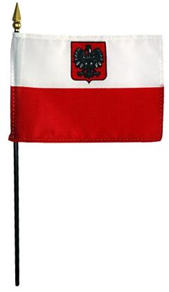Mini Poland with Eagle Flag for sale