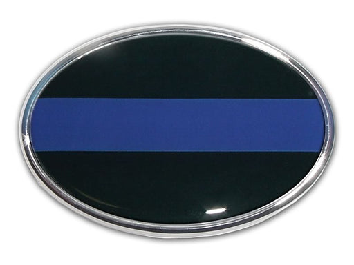 thin blue line car emblem for sale - commercial grade - made in usa - flagman of america