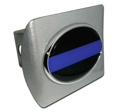 police thin blue line hitch cover for sale - commercial grade - flagman of america