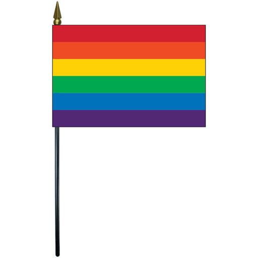 "Mini Rainbow Flag 4""x6"""