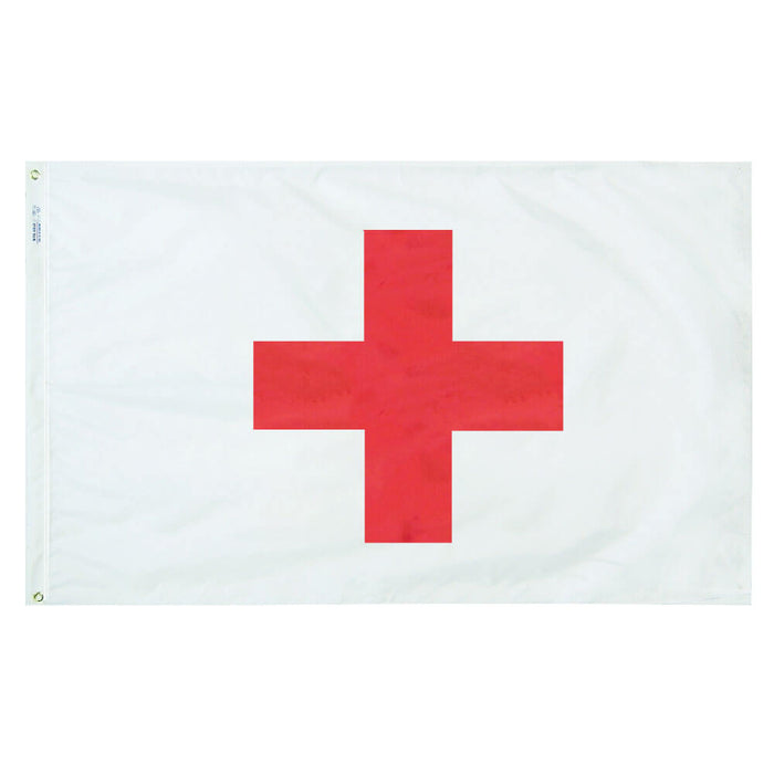 Red Cross Outdoor Flag 3'x5'