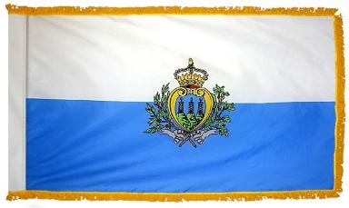 San Marino Government indoor flag for sale