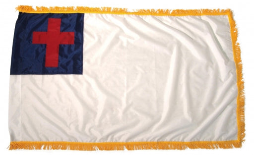 Sewn Indoor Christian Flag With Fringe for sale