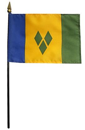 Mini St. Vincent & Grenadines Flag for sale