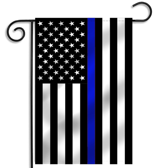 Printed Thin Blue Line (American) Garden Flag