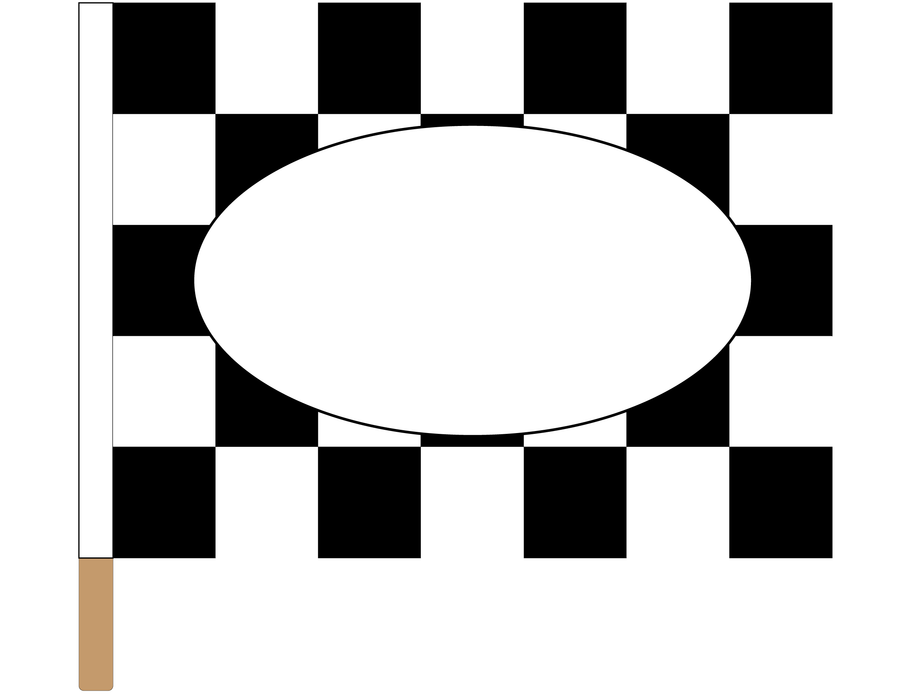 Printed Trophy Checkered Racing Flag