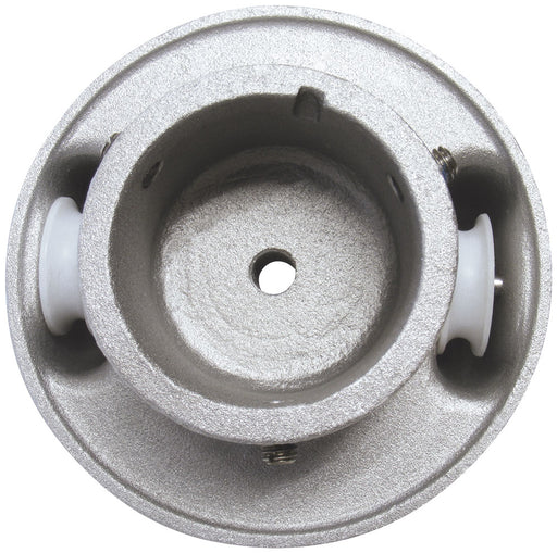 """Aluminum Flag Pole Truck Pulley 2/"""" inch Silver Cap Style Stationary NEW"""