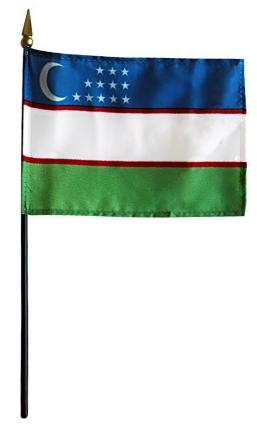Mini Uzbekistan Flag for sale