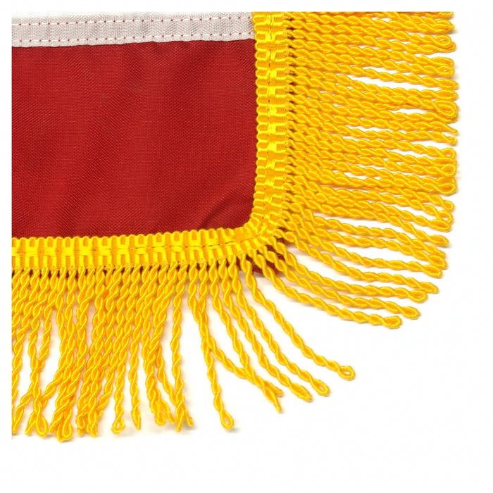 Art-Glo Premium American Flag with Gold Fringe