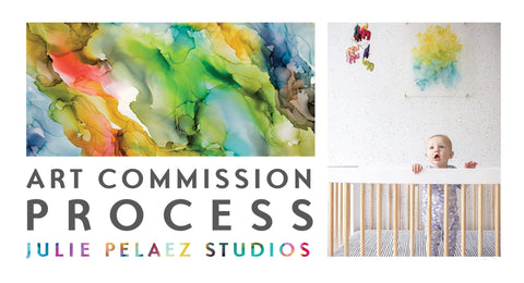 art commission process custom original painting
