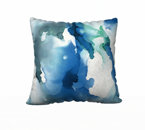 """Blue Abyss"" 22"" x 22"" Pillow - 50% OFF"
