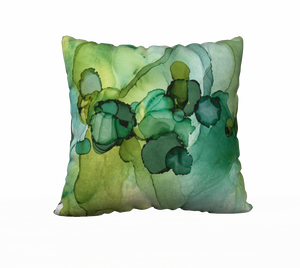 """Dotscape Emerald"" Throw Pillow"