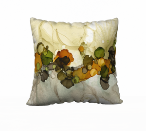 """Dotscape Tan"" Throw Pillow"