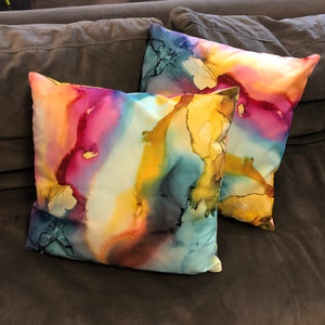 """Happy Place"" Throw Pillow"