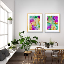 """Kissed by Color"" Diptych"