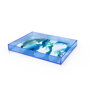 "12"" x 10"" Acrylic Tray in ""Blue Abyss"" - 30% OFF"