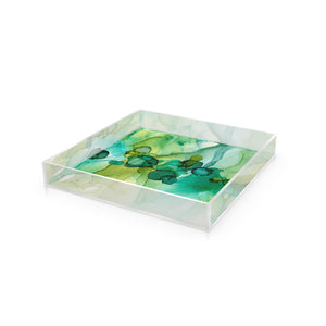 "Acrylic Tray in ""Dotscape Emerald"""